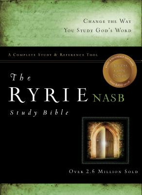 The Ryrie NAS Study Bible Bonded Leather Black Red Letter Indexed (New American Standard 1995 Edition) Cover Image