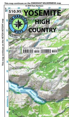 Yosemite High Country (Tom Harrison Maps) Cover Image