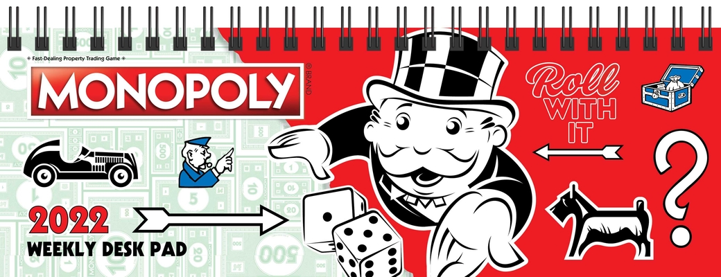 Monopoly 2022 Dated Weekly Desk Pad Calendar Cover Image