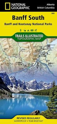 Banff South [Banff and Kootenay National Parks] (National Geographic Trails Illustrated Map #900) Cover Image