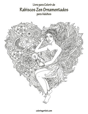 Livro para Colorir de Rabiscos Zen Ornamentados para Adultos Cover Image