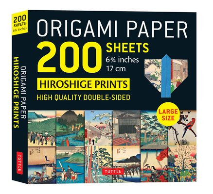 Origami Paper 200 Sheets Hiroshige Prints 6 3/4 (17 CM): High-Quality Double Sided Origami Sheets with 12 Different Woodblock Prints (Instructions for Cover Image