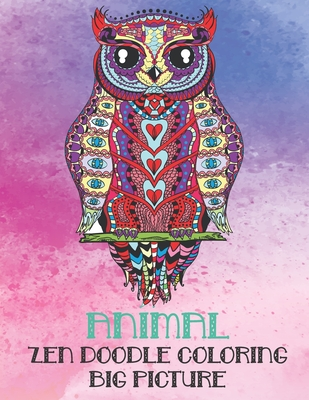 Zen Doodle Coloring Big Picture - Animal Cover Image