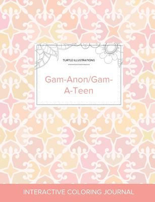 Adult Coloring Journal: Gam-Anon/Gam-A-Teen (Turtle Illustrations, Pastel Elegance) Cover Image