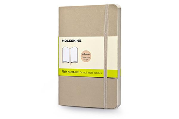 Moleskine Classic Colored Notebook, Pocket, Plain, Khaki Beige, Soft Cover (3.5 x 5.5) Cover Image