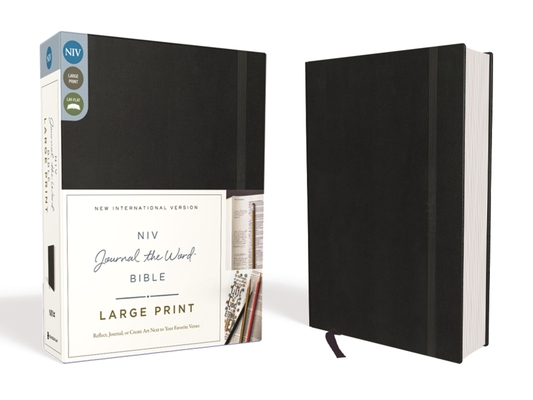 NIV, Journal the Word Bible, Large Print, Hardcover, Black: Reflect, Journal, or Create Art Next to Your Favorite Verses Cover Image