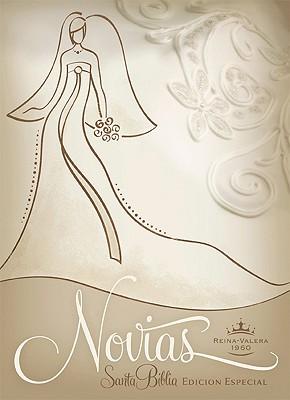 RVR 1960 Biblia Recuerdo de Boda para Novias, blanco/champán imitación piel Cover Image