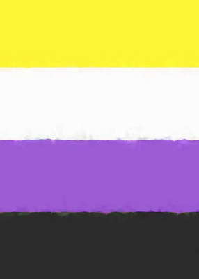 Nonbinary Pride Flag Sketch Journal Cover Image