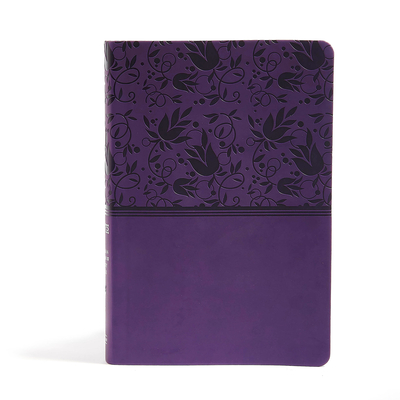 Cover for NIV Rainbow Study Bible, Purple LeatherTouch Indexed