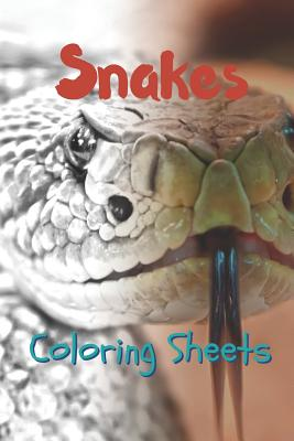 Snake Coloring Sheets: 30 Snake Drawings, Coloring Sheets Adults Relaxation, Coloring Book for Kids, for Girls, Volume 5 Cover Image