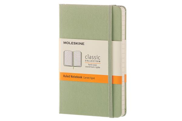 Moleskine Classic Notebook, Pocket, Ruled, Willow Green, Hard Cover (3.5 x 5.5) Cover Image
