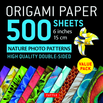 Origami Paper 500 Sheets Nature Photo Patterns 6 (15 CM): Tuttle Origami Paper: High-Quality Double-Sided Origami Sheets Printed with 12 Different Des Cover Image