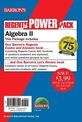 Regents Algebra II Power Pack: Let's Review Algebra II + Regents Exams and Answers: Algebra II (Barron's Regents NY) Cover Image