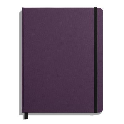 Shinola Journal, HardLinen, Ruled, Dark Purple (7x9) Cover Image