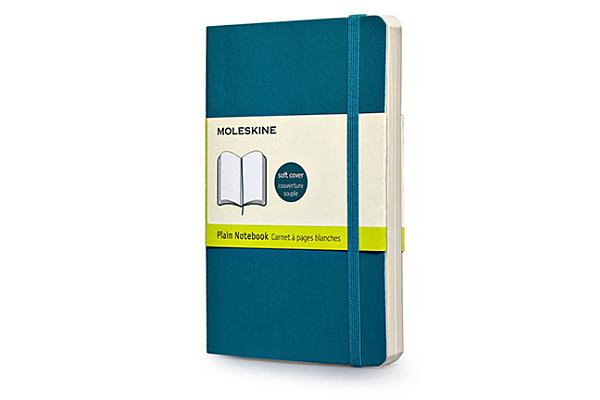 Moleskine Classic Colored Notebook, Pocket, Plain, Underwater Blue, Soft Cover (3.5 x 5.5) Cover Image