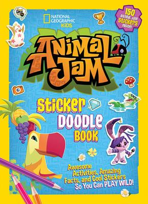 Animal Jam Sticker Doodle Book Cover Image