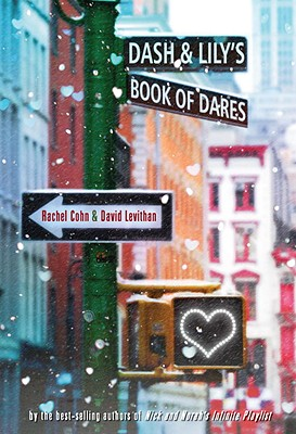 picture of a snowy street with an intersection; street signs read: Dash & Lily's Book of Dares