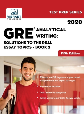GRE Analytical Writing: Solutions to the Real Essay Topics - Book 2 (Test Prep #20) Cover Image