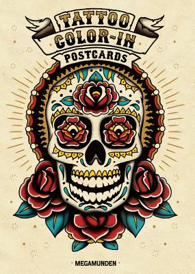 Tattoo Color-In Postcards Cover Image