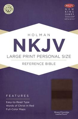 Cover for NKJV Large Print Personal Size Reference Bible, Brown/Chocolate LeatherTouch