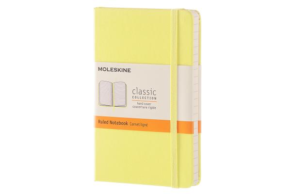 Moleskine Classic Notebook, Pocket, Ruled, Citron Yellow, Hard Cover (3.5 x 5.5) Cover Image