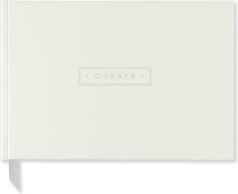 White Leather Guest Book Cover Image