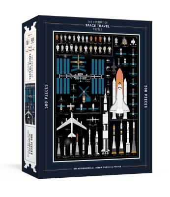 The History of Space Travel Puzzle: Astronomical 500-Piece Jigsaw Puzzle & Poster : Jigsaw Puzzles for Adults (Pop Chart Lab) Cover Image