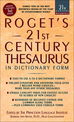 Roget's 21st Century Thesaurus (21st Century Reference (Pb)) Cover Image
