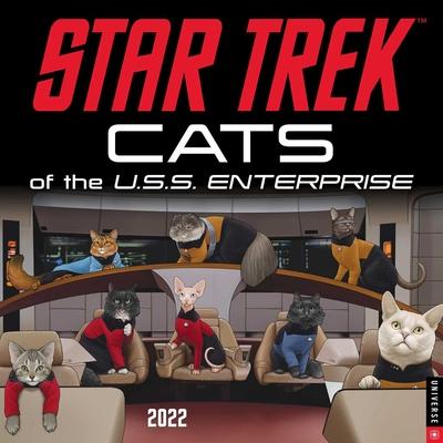 Star Trek: Cats of the U.S.S. Enterprise 2022 Wall Calendar Cover Image