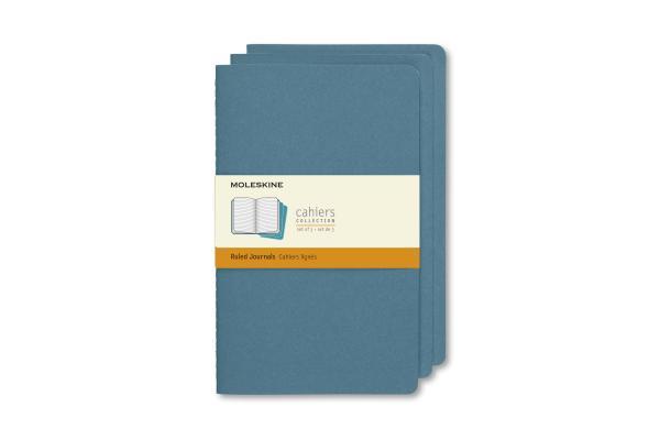 Moleskine Cahier Journal, Large, Ruled, Brisk Blue (8.25 x 5) Cover Image