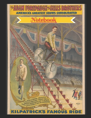 Notebook: Vintage Circus Poster: Velocipede Bicycle Wide Ruled Notebook Cover Image