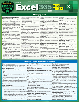 Microsoft Excel 365 Tips & Tricks - 2019: A Quickstudy Laminated Software Reference Guide Cover Image