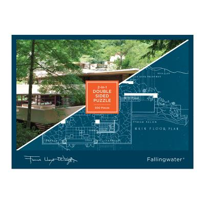 Frank Lloyd Wright Fallingwater 2-sided 500 Piece Puzzle Cover Image