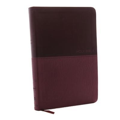 NKJV, Value Thinline Bible, Large Print, Imitation Leather, Burgundy, Red Letter Edition Cover Image