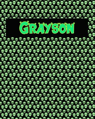 120 Page Handwriting Practice Book with Green Alien Cover Grayson: Primary Grades Handwriting Book Cover Image