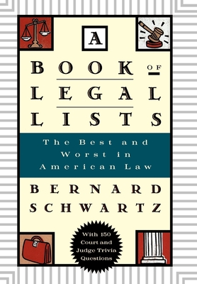 A Book of Legal Lists Cover