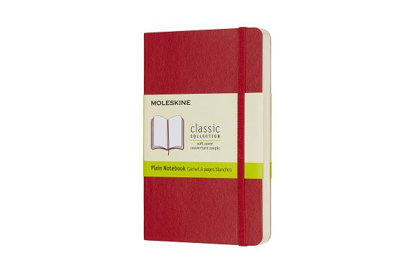 Moleskine Classic Notebook, Pocket, Plain, Scarlet Red, Soft Cover (3.5 x 5.5) Cover Image