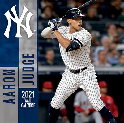 New York Yankees Aaron Judge 2021 12x12 Player Wall Calendar Cover Image