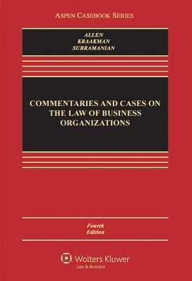 Commentaries and Cases on the Law of Business Organization, Fourth Edition Cover Image