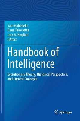 Handbook of Intelligence: Evolutionary Theory, Historical Perspective, and Current Concepts Cover Image
