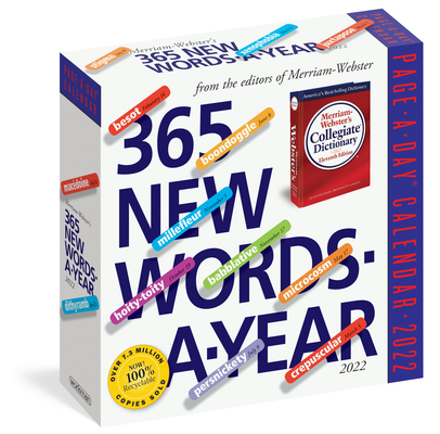 365 New Words-A-Year Page-A-Day Calendar 2022: For Students, Writers, Crossword Fanatic's and Lover's of Language. Cover Image