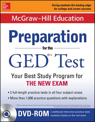 McGraw-Hill Education Preparation for the GED(R) Test with DVD-ROM [With CDROM] Cover Image