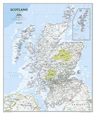 National Geographic: Scotland Classic Wall Map - Laminated (30 X 36 Inches) Cover Image
