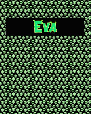 120 Page Handwriting Practice Book with Green Alien Cover Eva: Primary Grades Handwriting Book Cover Image