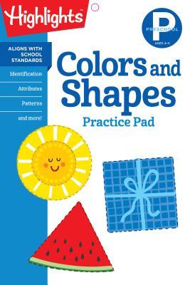 Preschool Colors and Shapes (Highlights Learn on the Go Practice Pads) Cover Image