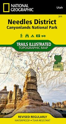 Needles District: Canyonlands National Park (National Geographic Trails Illustrated Map #311) Cover Image