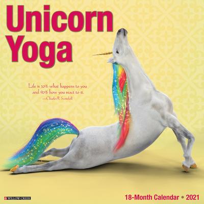 Unicorn Yoga 2021 Wall Calendar Cover Image