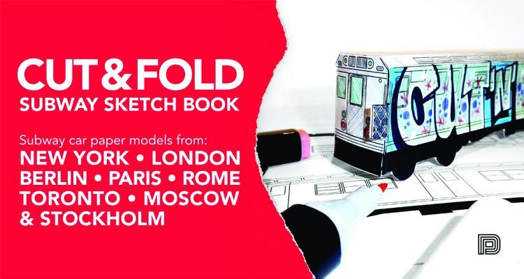 Cut & Fold Subway Sketchbook Cover Image