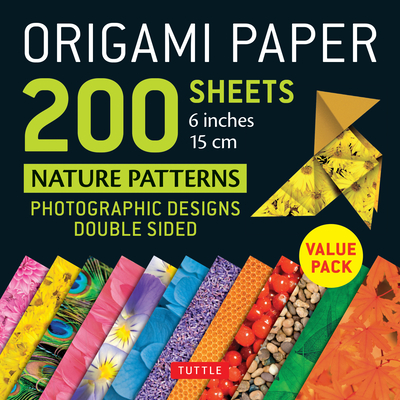 Origami Paper 200 Sheets Nature Patterns 6 (15 CM): Tuttle Origami Paper: High-Quality Double Sided Origami Sheets Printed with 12 Different Designs ( Cover Image