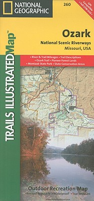 Ozark National Scenic Riverways, Missouri, USA Outdoor Recreation Map (National Geographic Maps: Trails Illustrated #260) Cover Image